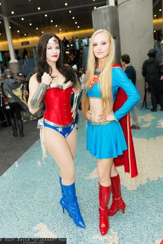 Wonder Woman and Supergirl | Comikaze Expo 2014 - Saturday