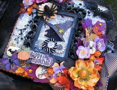 VINTAGE STYLE HALLOWEEN PAPER BAG ALBUM WITCH PAPER PIECING PRIMA FLOWER / Toni | eBay