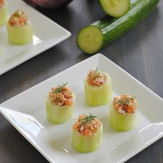 Easy Cucumber and Smoked Salmon Appetizer