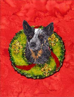 Australian Cattle Dog 2 Sided Garden Flag