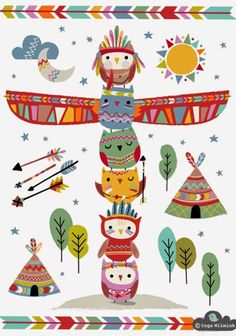 Inga Wilmink is an established freelance Illustrator & Surface Pattern Designer. Buy, license or commission colourful and quirky art, graphic prints and repeat patterns for your product. Arte Tribal, Owl Art, Grafik Design, Cute Illustration, Illustrations Posters, Cute Art, Art For Kids, Pattern Design, Print Patterns