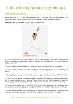 13 điều cần biết giúp bạn tập yoga hiệu quả by Làm đẹp tự nhiên via slideshare