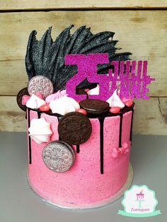 Pink Oreo Drip Cake