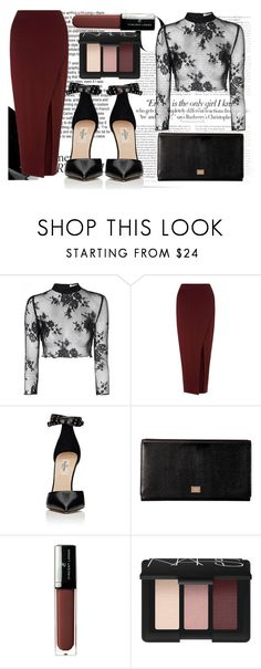"""rBM"" by vickyyates ❤ liked on Polyvore featuring Vanity Fair, Glamorous, Miss Selfridge, Valentino, Dolce&Gabbana, Vincent Longo and NARS Cosmetics"