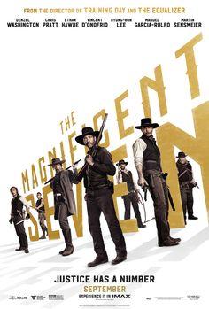 七俠蕩寇誌     The Magnificent Seven   (133min / 2016)     #AntoineFuqua    #DenzelWashington    #ChrisPratt   #EthanHawke     #USA    #Movie   #Poster