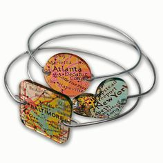 Custom Map Bracelet - Any Location -Geography Bracelet - Any Location can be Used-Personalized Map Jewelry