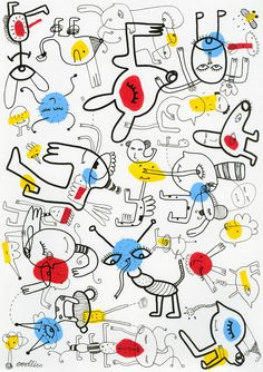 Doodles Nigel No Mates   Oodlies Abstract Art by Joi Murugavell