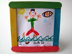 Father's Day Craft Stick Picture Frame