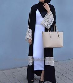 2018 new Adult Casual lace Robe Musulmane Turkish Dubai Fashion Abaya Muslim Dress lace Robes Arab Worship Service - Muslim Shops - High Quality Islamic Clothing Hijab Outfit, Hijab Dress, Kimono Abaya, Hijab Wear, Islamic Fashion, Muslim Fashion, Modest Fashion, Hijab Fashionista, Abaya Designs