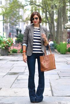 stripes & a blazer