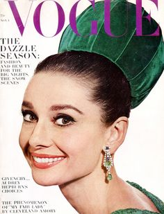 Vogue Cover November 1 1964 - Audrey Hepburn by Irving Penn