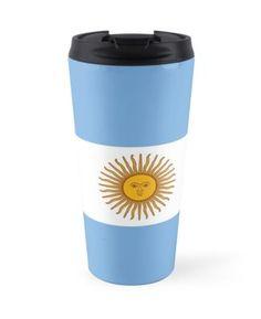 'Argentina Flag' Travel Mug by ArgosDesigns Argentina Flag, Framed Prints, Canvas Prints, Block Wall, Art Boards, Ipad Case, Wall Tapestry, Decorative Throw Pillows, Travel Mug