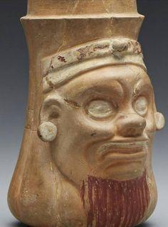 Maya vase from Quiriqua Guatemala. Late classic period 700-800 A.D..