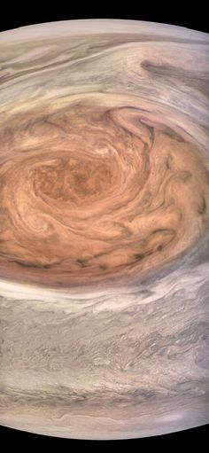 This enhanced-color image of Jupiter's Great Red Spot was created by citizen scientist Kevin Gill using data from the JunoCam imager on NASA's Juno spacecraft.