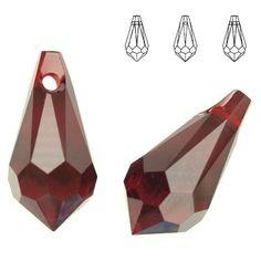 6000 Drop 15x7,5mm Siam  Dimensions: 15,0 x 7,5 mm Colour: Siam 1 package = 1 piece