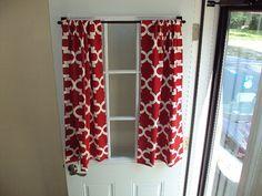 Custom Door Curtain in Red $39.99