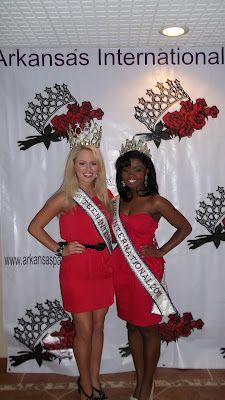 Miss Teen International 2011, Jurnee Carr and Miss International 2011, Ciji Dodds at the Arkansas International Pageant!