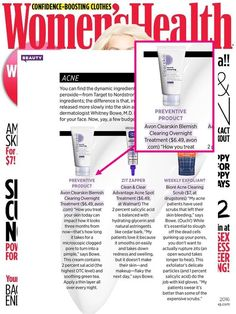 In case you missed it, be sure to check out the Women's Health Magazine feature on Clearskin Blemish Overnight Treatment! #Avon #Skincare #AcneTreatment