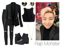 """Rap Monster on ASC Inspired"" by btsoutfits ❤ liked on Polyvore featuring Glamorous, Marc by Marc Jacobs, Chicsense, Steve Madden and Bing Bang"