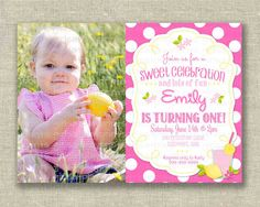 Hey, I found this really awesome Etsy listing at https://www.etsy.com/listing/191518697/1st-first-birthday-girl-photo-invitation