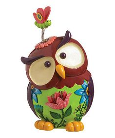 Love this Whimsy Owl  Butterfly Statuary on #zulily! #zulilyfinds