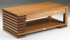Coffee Table with Drawer Rimu Coffee Table With Stools, Coffee Table With Drawers, Modern Coffee Tables, Centre Table Design, Tea Table Design, Centre Table Living Room, Center Table, Solid Wood Furniture, Table Furniture