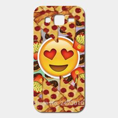 For Samsung Galaxy J5 J7 J3 J2 J1 mini E7 E5 A9 A8 A7 A5 A3 Grand Prime G530 Mobile Phone Cover Protective Pizza Emoji Back Case(China (Mainland))