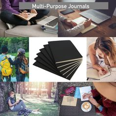"""6pk Simply Genius 92pg Soft Cover A5 Journal – 5.5"""" x 8.3"""" Journal Notebook, A5, Stationery, Pouch, Purses, Cover, Handbags, Caro Diario, Paper Mill"""