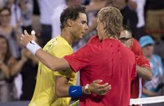 Canadian tennis // Rogers Cup 2017 (Day // Picture : Rafael Nadal & Denis Shapovalov (Copyright Paul Chiasson/The Canadian Press) Tennis, Rafael Nadal, Roger Federer, Badminton, Make Me Smile, Polo Ralph Lauren, Couple Photos, Day, Sports