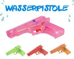 Wasserpistole 15 cm Wasser Pistole Pool Spritzpistole Transparent 4 Farben in…