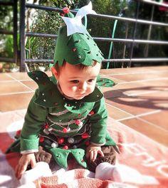 Disfraces para bebes. Disfraz de árbol de navidad