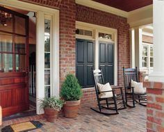 love this porch by Caldwell-Cline Architects and Designers