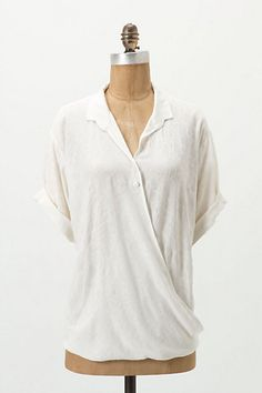 Draped Damask Blouse - Anthropologie.com