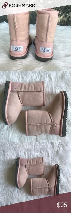 🆕🍁UGG Classic Short Girls Boots. Baby Pink 🍁 Brand new UGG Classic Short Boots in baby pink. 100% authentic. New without tags or box. No trades. UGG Shoes Boots