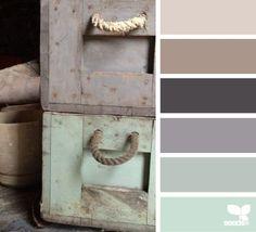 rustic tones - design seeds Kitchen/dining room and living room colors Design Seeds, Color Concept, Vibeke Design, Colour Schemes, Color Palettes, Rustic Color Schemes, Paint Palettes, Paint Schemes, My New Room