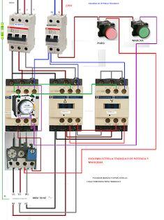 Esquemas eléctricos: ESTRELLA TRIANGULO DE POTENCIA Y MANIOBRA