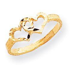 14k Gold Children's Heart Ring