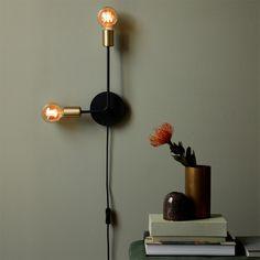 Applique Josefine con cavo e spina di Nordlux Applique, Led Röhren, Cable, Led Lampe, Messing, Sorting, Plugs, Sconces, Wall Lights