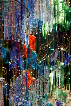 Windchimes - glass or crystal, as long as it's shiny!