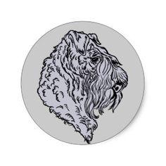 Kerry Blue Terrier Bust Classic Round Sticker