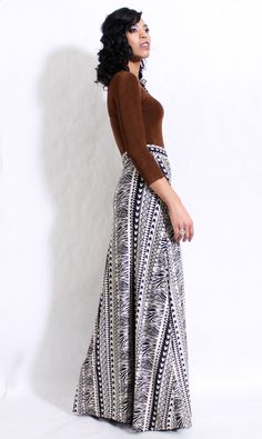 Gloria Tribal Maxi Skirt