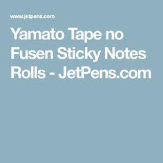 Yamato Tape no Fusen Sticky Notes Rolls - JetPens.com