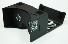 Google Cardboard  45mm Focal Length Virtual Reality Google Cardboard with Printed Instructions and Easy to Follow Numbered Tabs WITH NFC and FREE HEADSTRAP Black -- You can get more details by clicking on the image.Note:It is affiliate link to Amazon.