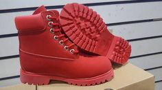 all red custom 6 inch boots mens