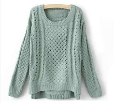 Loose Cable Knit Sweater by Baaonetsy on Etsy, $29.99