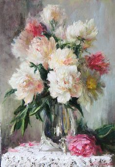 The Poet of Painting ~ Catherine La Rose : Anna VINOGRADOVA ~ flowers ✿