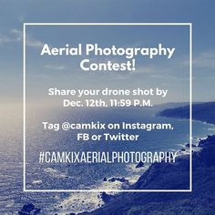 Join our Aerial Photography Contest! Upload your best drone shot and get chance to win a CamKix ND filter kit for DJI Phantom 3 and 4. Tag @camkix and use #camkixaerialphotography to qualify! Deadline is on December 12, 11:59 P.M. #camkix #photocontest #dronephotography #aerialphotography