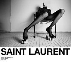 Saint Laurent's Fall 2017 Ad Campaign - Fashion New Fashion, Trendy Fashion, Fashion News, Spring Fashion, Autumn Fashion, Fashion Shoes, Lifestyle Fashion, Fashion Trends, Fashion Advertising