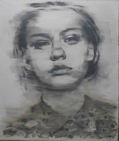 """Saatchi Art Artist János Huszti; Painting, """"Portrait 05"""" #art"""
