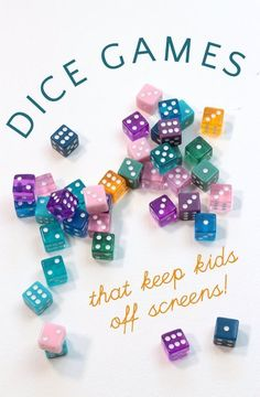 The best dice games for kids! These easy dice games are simple to learn, help kids practice math skills, learn about probability and give them opportunities for building social skills in a screen free environment. Dice Games, Activity Games, Math Games, Fun Games, Activities For Kids, Crafts For Kids, Math Math, Fun Math, Probability Games
